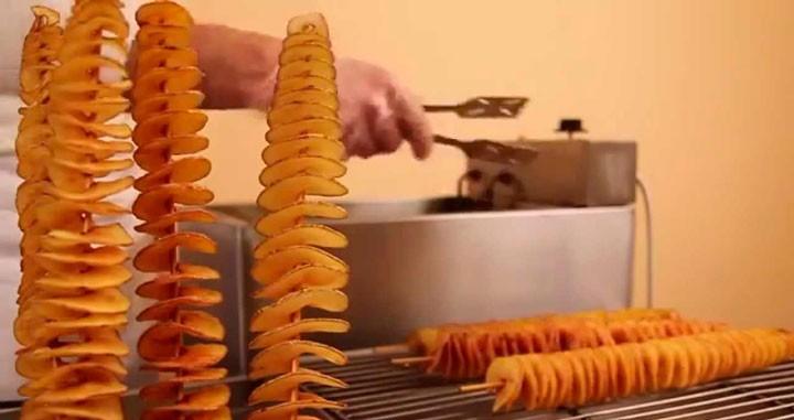 Оборудование для нарезки спиральных чипсов