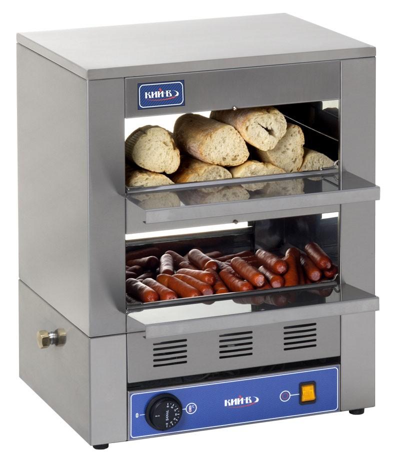 Процесс приготовления сосисок происходит на пару, что исключает их разваривание. Конструкция аппарата исключает размокание булочек.