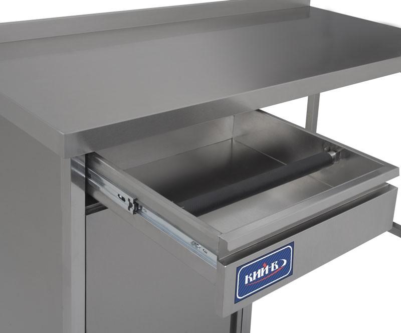 База под кофеварку комплектуется выдвижным ящиком и прорезиненным съемным валом для выбивания кофейной гущи.