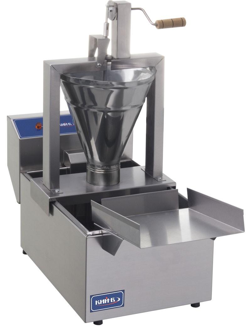 Конструкциия ручного дозатора обеспечивает легкое вращение механизма формирования пончика.