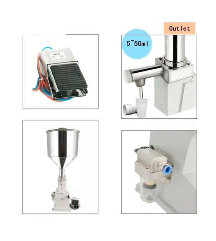 Дозатор для вязких и пастообразных продуктов А02 пневматический