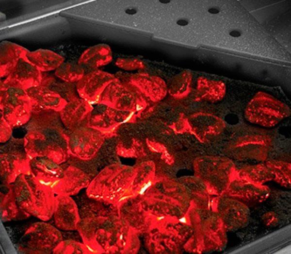 Готовка на углях в газовом гриле