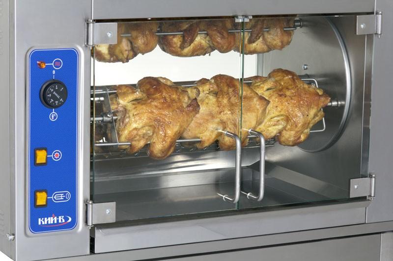 Гриль для кур ГК-6М. В грилях для кур используется инфракрасный источник нагрева для придания продуктам золотисто-хрустящей корочки и нежного вкуса мяса