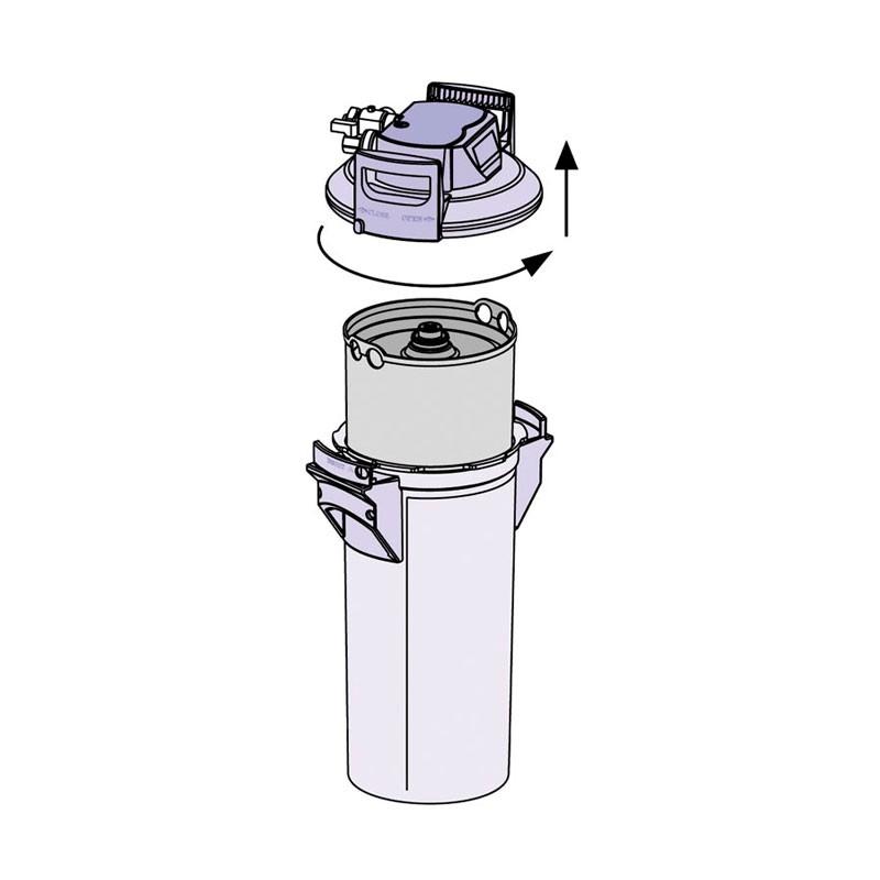 Сменный картриджж для фильтра воды Brita меняется легко