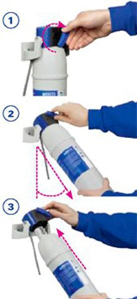 Сменный картридж для фильтра воды Brita меняется легко