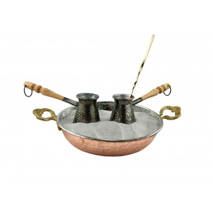 """Кофейный набор для кофе на песке """"Виноград"""" (2 турки)"""
