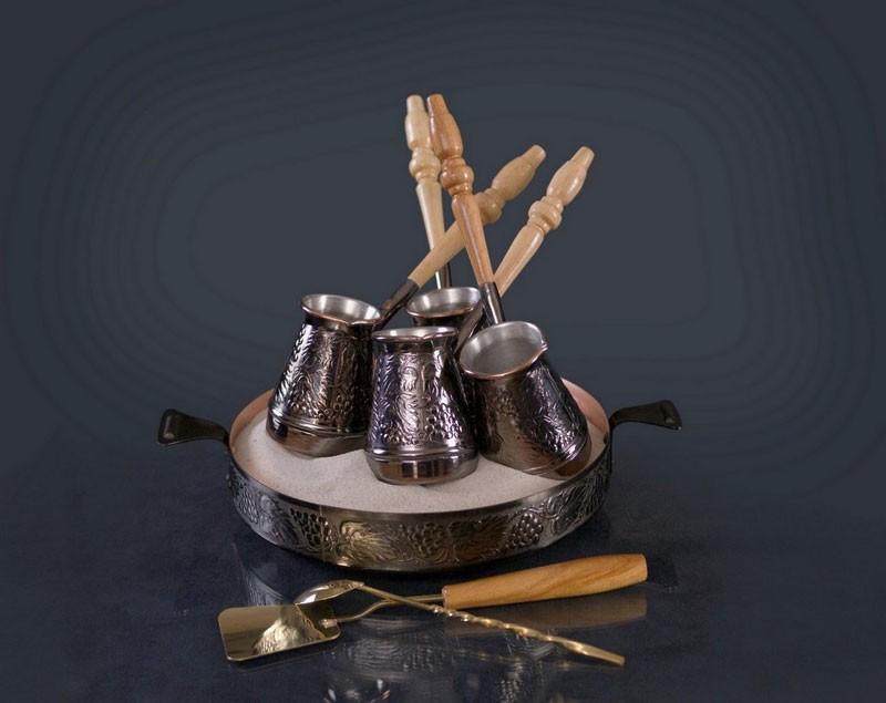 """Кофейный набор для кофе на песке """"Виноград"""""""