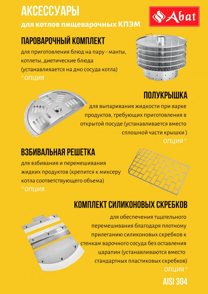 Котел Abat КПЭМ-200 ОМП-02 комплектация