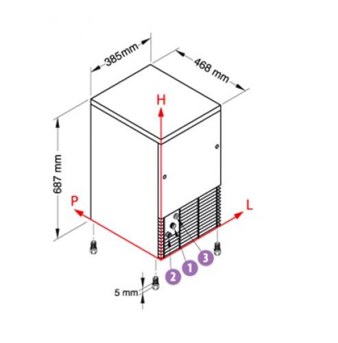 Льдогенератор NTF IFT55 W