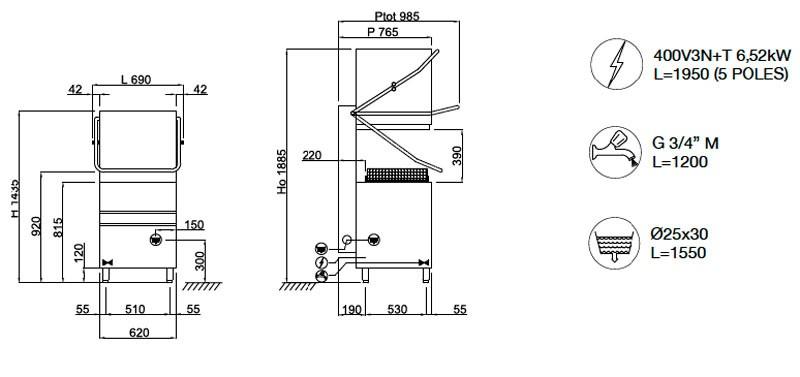 Krupps K1100E Монтажная схема