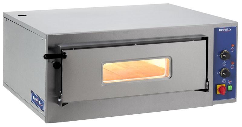 Печь для пиццы ПП-1К-975. Две галогенные лампы, защищенные термостойким стеклом, обеспечивают внутреннее освещение.