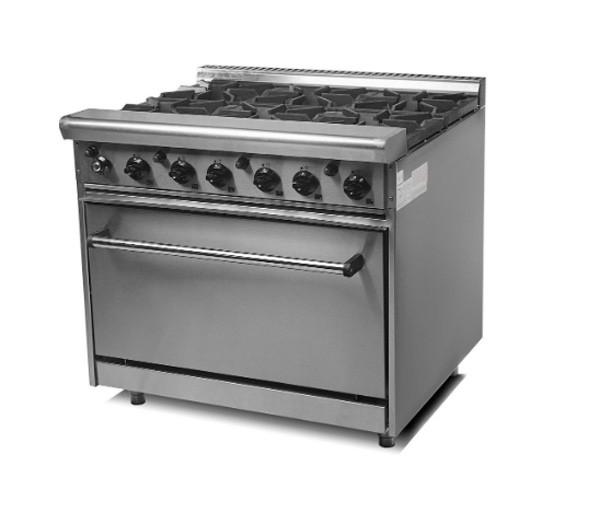 Плита газовая 6-ти конфорочная c духовкой CustomHeat GR 6-36