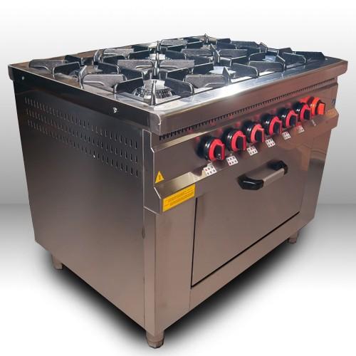 Плита газовая промышленная Pimak МО15-6/400х400/Газ.-контр.
