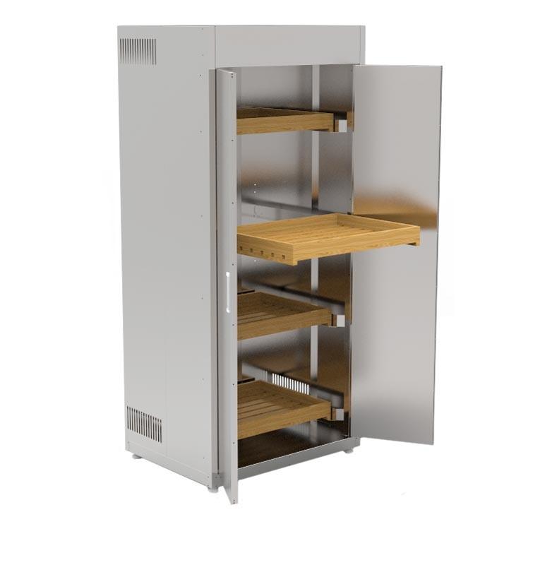 Шкаф для хлеба КИЙ-В ШФХ-2ДР-4Д 600х600