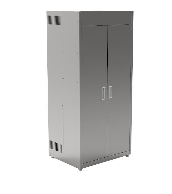 Шкаф из нержавеющей стали для хранения хлеба КИЙ-В ШФХ-2ДР-4Д