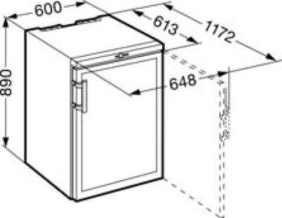 Шкаф для вина Liebherr WKb 1812 схема встраивания
