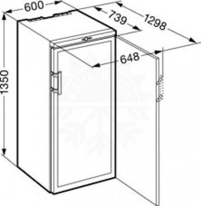 Шкаф для вина Liebherr WKb 3212 схема