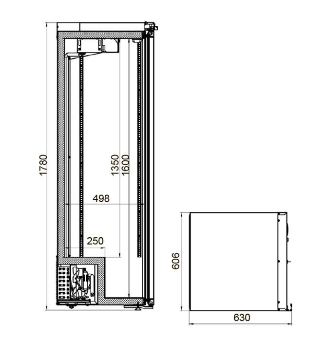 Шкаф холодильный фармацевтический Polair ШХФ-0,4ДС