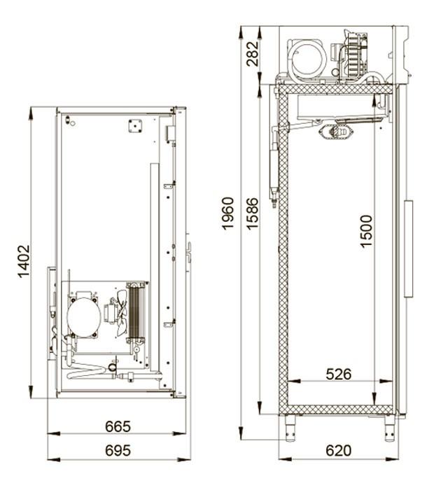 Медицинский холодильник Polair ШХФ-1,0