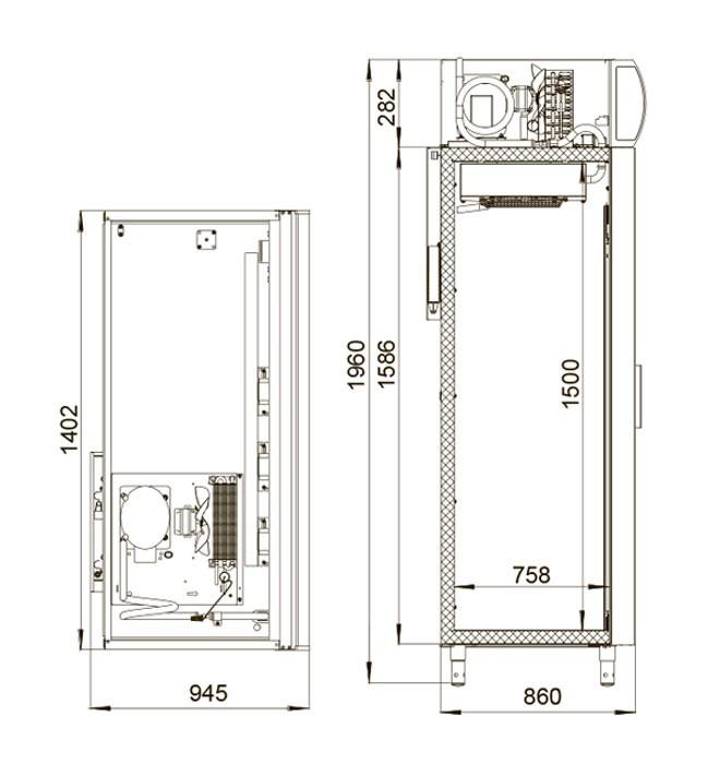 Медицинский холодильник Polair ШХФ-1,4 ДС