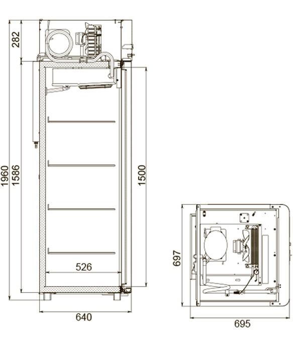 Шкаф холодильный Polair CM105-Sm Alu