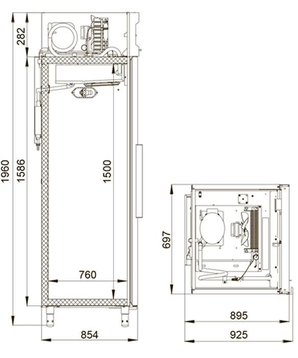 Холодильный шкаф Polair CM107-S Полаир