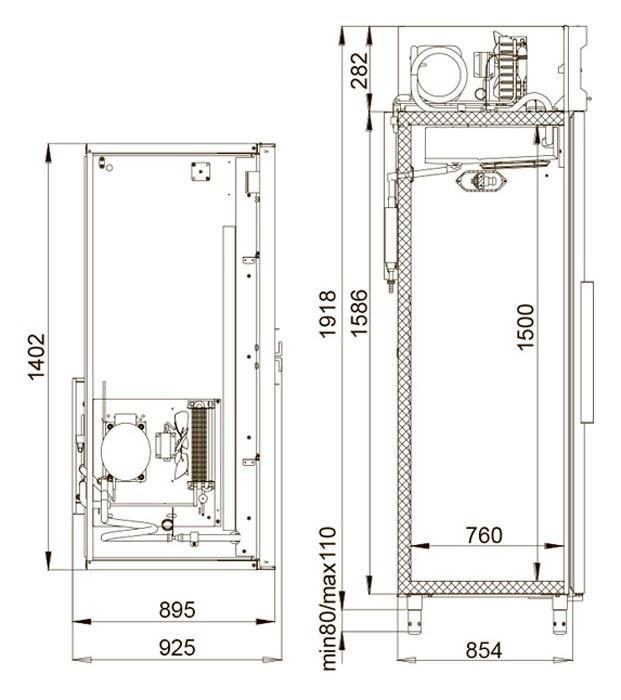 Холодильный шкаф Polair CM114-S Полаир