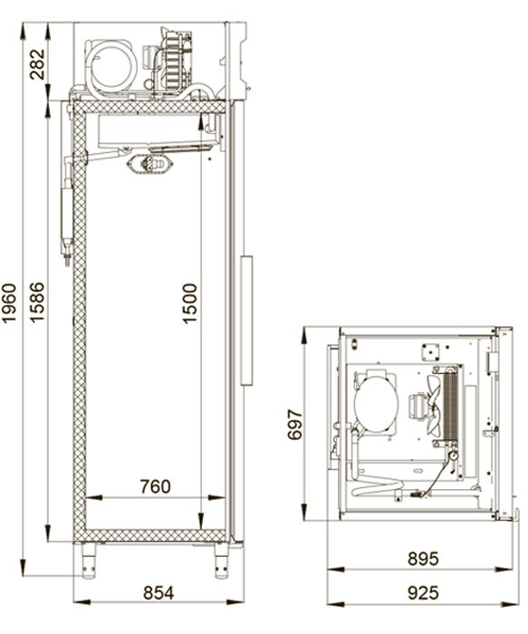 Холодильный шкаф Polair CV105-S Полаир