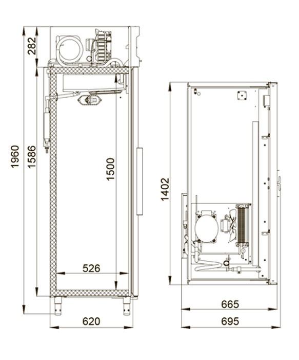 Холодильный шкаф Polair CV110-S Полаир