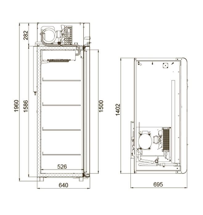 Шкаф холодильный Polair CV110-Sm Полаир
