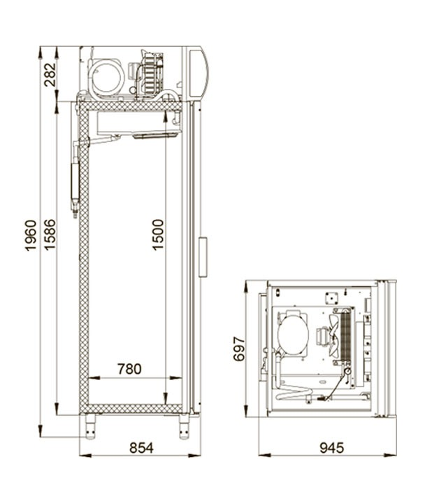 Холодильный шкаф DP107-S