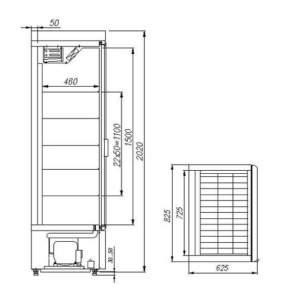 Шкаф холодильный Полюс Carboma R560Св