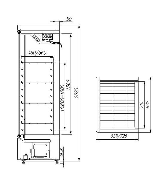 Шкаф холодильный Полюс Carboma R700 С