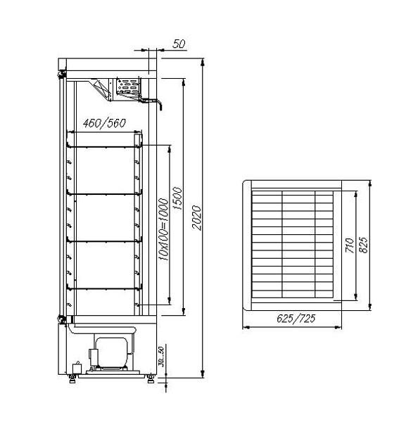 Шкаф холодильный Carboma V560 С