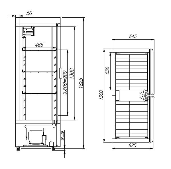 Холодильный шкаф Полюс ШХ-0,8