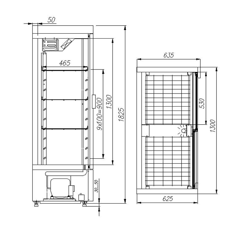 Холодильный шкаф Полюс ШХ-0,8К INOX