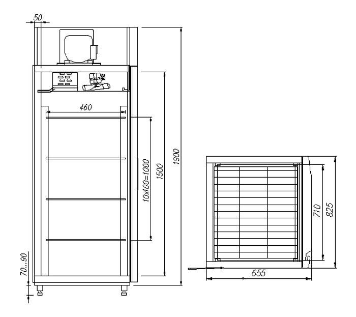 Шкаф холодильный V560 Сarboma INOX