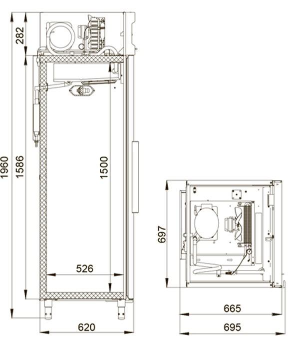 Морозильный шкаф Polair CB105-Sm Alu Полаир