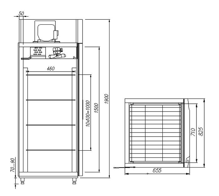 Морозильный шкаф Полюс F560 Сarboma INOX