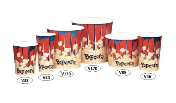 Стаканы бумажные для попкорна