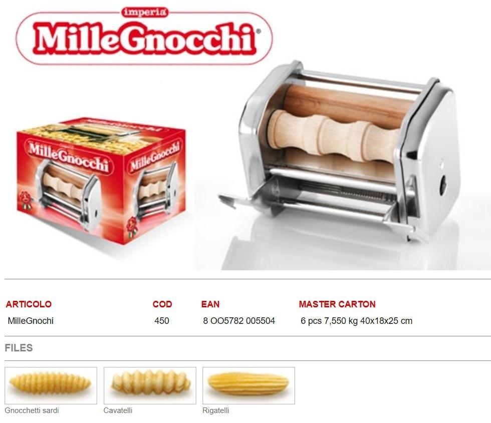 Насадка Imperia Mille Gnocchi cod. 450 для лапшерезки Imperia iPASTA SFOGLIATRICE cod. 162