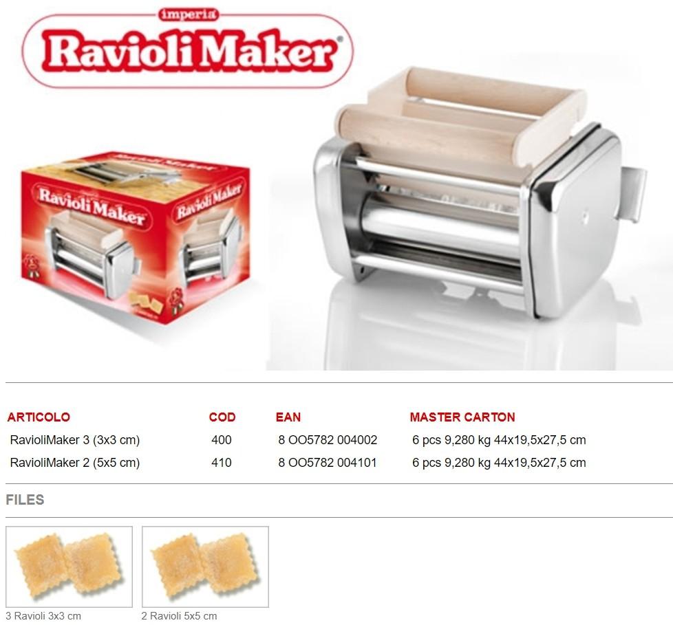 Насадка Imperia Ravioli Maker cod. 400 для лапшерезки Imperia iPASTA SFOGLIATRICE cod. 162