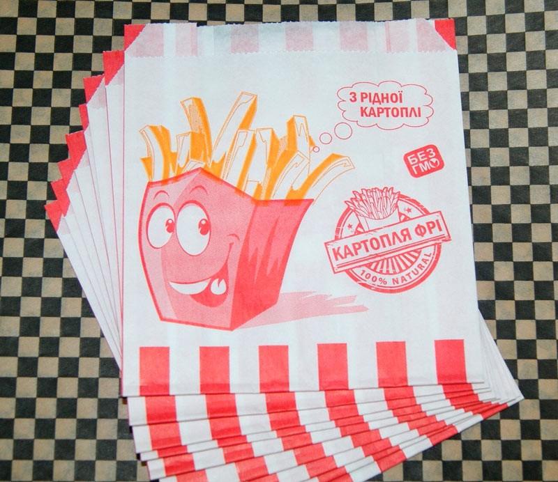 """Бумажный пакет для картошки фри """"З рідної картоплі"""" 7.1786"""