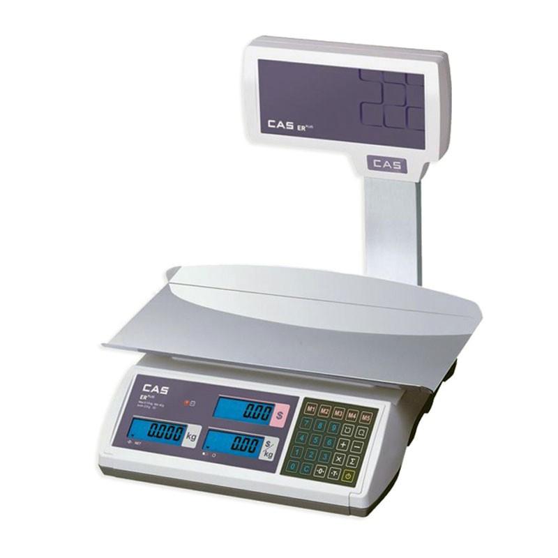 Весы торговые CAS ER-Plus с увеличенной платформой