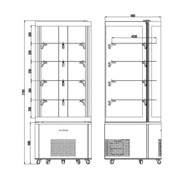 Холодильная Витрина кондитерская Frosty ARC-400R