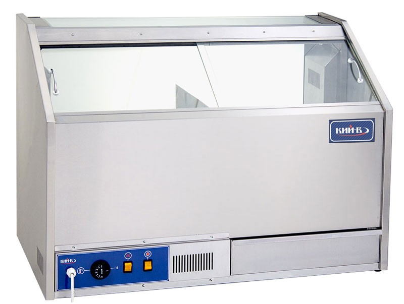 Тепловая витрина ВТПК-920. Раздвижные шторки обеспечивают быстрый и удобный доступ к продуктам