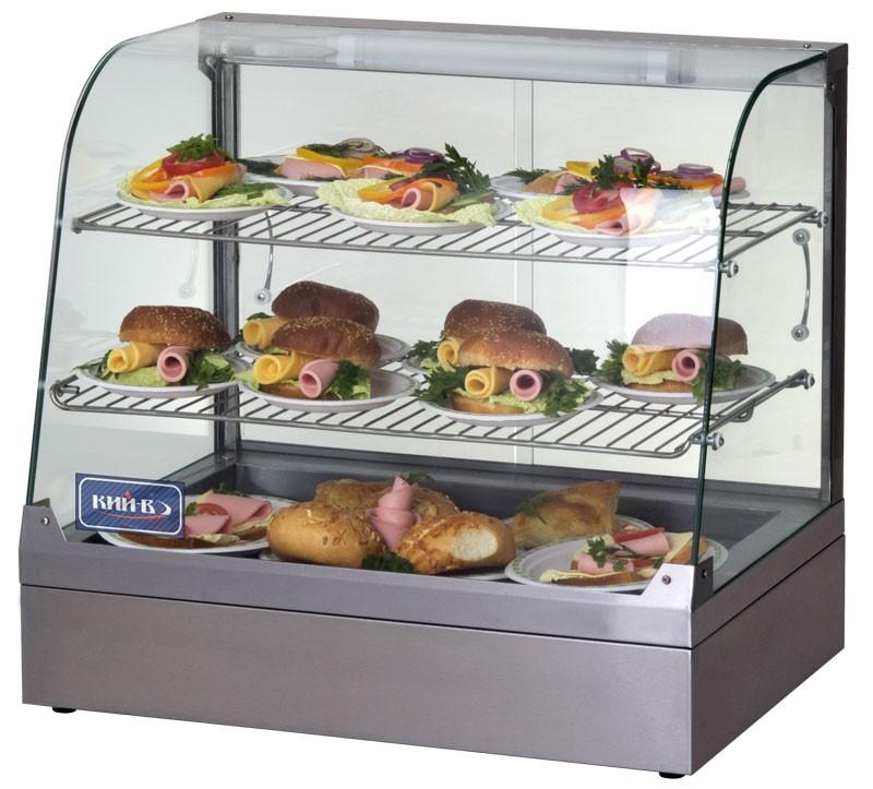 Современный дизайн. Радиусные стекла придают тепловой витрине современный дизайн.