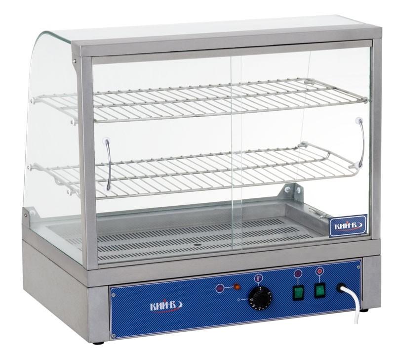 Витрина настольная ВТ-Р-660. Раздвижные шторки обеспечивают быстрый и удобный доступ к продуктам.