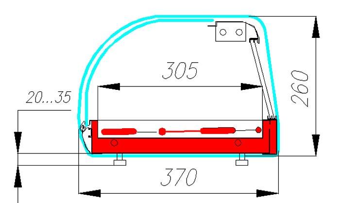 Настольная витрина тепловая Полюс A37 SH 1,0-1 (ВТ-1,0 Сarboma)