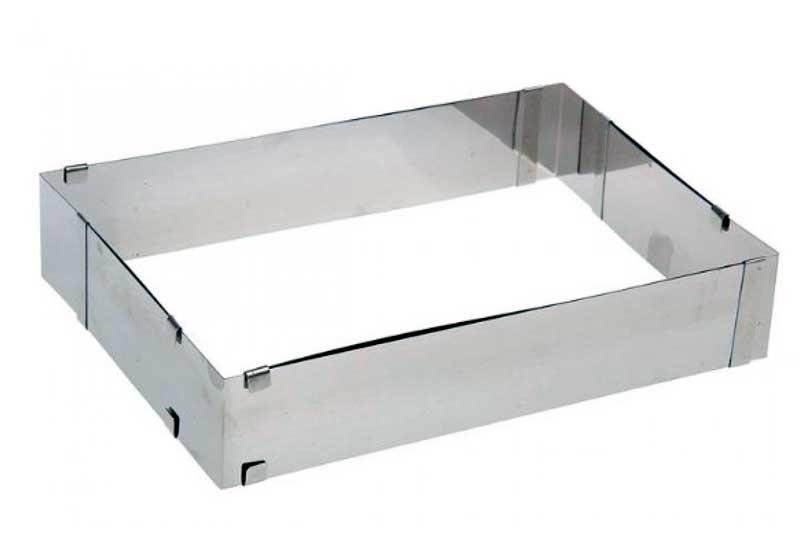 Форма для выпечки раздвижная металлическая прямоугольная 40х40х7 см. KAPP 43030009